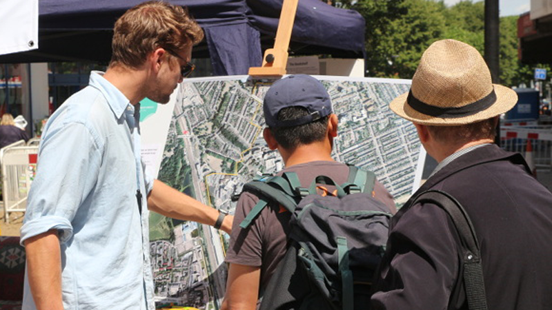 2015 Fellow Matt Tull guides Wood Green residents through planned changes to the area.